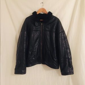 Vintage heavy leather coat